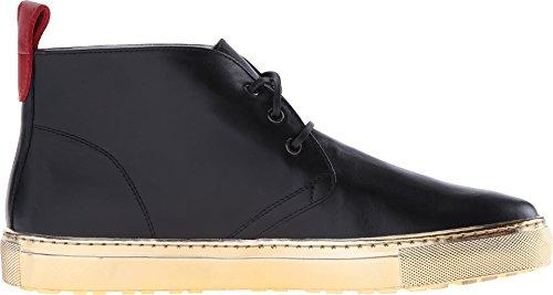 Sneaker Chukka In Pelle Da Uomo Del Toro Con Suola In Metallo Nero / Oro