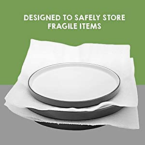"100 Count - 12"" x 12"" Cushion Foam Sheets, Packing Supplies for Moving, Safely Wrap Dishes, Glasses & Furniture Legs by California Basics"