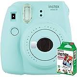instax mini 9 Makine+10'lu Film+Askı (açık mavi)