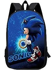 Leuke Sonic the Hedgehog-rugzak, basisschooltas, lichte Sonic-boekentas Lunchtas voor kinderen, jeugdkinderen reizen rugzak