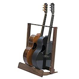Walnut Guitar Rack String Swing CC34 Holder for Electric Acoustic and Bass Guitars – Stand Accessories for Home or…
