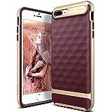 Caseology [Parallax Series iPhone 8 Plus/iPhone 7 Plus Case - [Award Winning Design] - Burgundy
