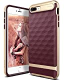 Caseology Parallax for iPhone 8 Plus Case (2017) / iPhone 7 Plus Case (2016) - Award Winning Design - Burgundy
