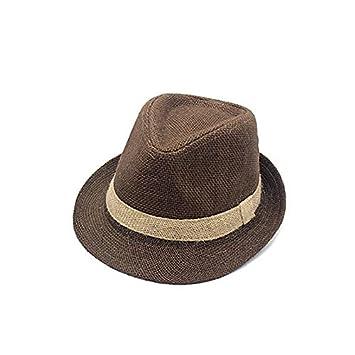 HEHEXIY Verano Lino Playa Sombrero para el Sol Hombres Gorra de ...