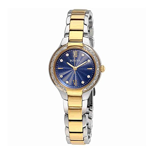 Bulova Diamond - 98R223 Two Tone Gold Blue (Movement Two Tone Diamond)