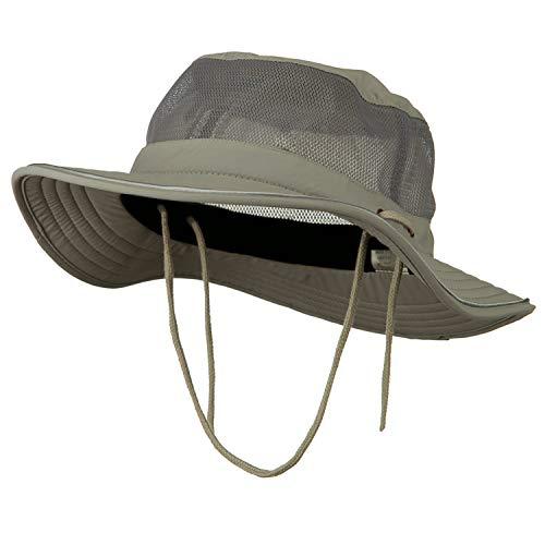 - e4Hats.com Big Size Talson UV Mesh Bucket Hat - Grey XL-2XL