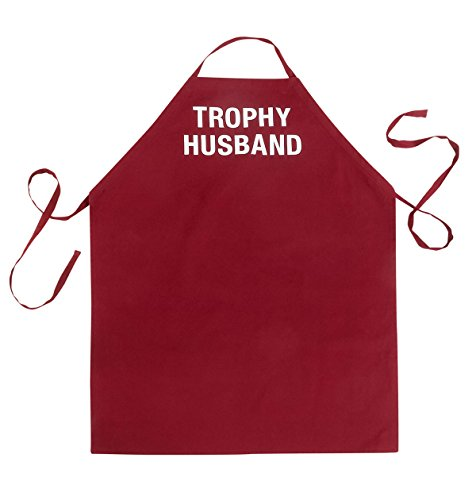 About Face Designs Trophy Husband Apron, One Size, Burgundy