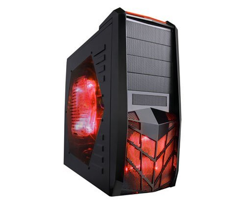 Apevia-X-TRP-BL-X-Trooper-Blue-ATX-Mid-Tower-Gaming-Case-with-5-Fans-Large-Blue-Tinted-Side-Window-Top-4-x-USB201-x-eSATA2-x-HD-Audio-Ports