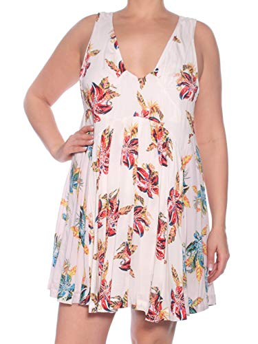 Free People Women's Thought I was Dreamin Mini Dress Neutral Combo Large from Free People