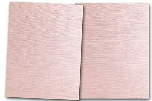Premium Linen Textured Poodle Skirt Pink Card Stock 80 Sheets - Matches Martha Stewart Poodle Skirt - Great for Scrapbooking, Crafts, Flat Cards, Folded Cards, DIY Projects, Etc. (5 x 7)