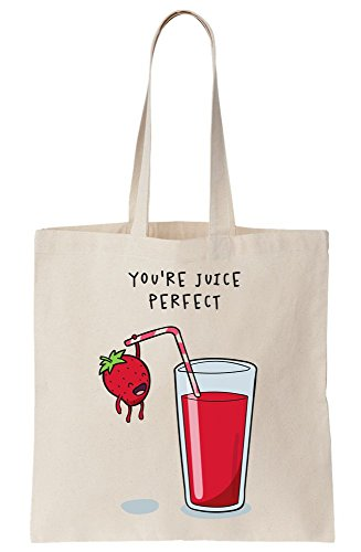 You're Juice Perfect Tiny Strawberry Canvas Tote Bag