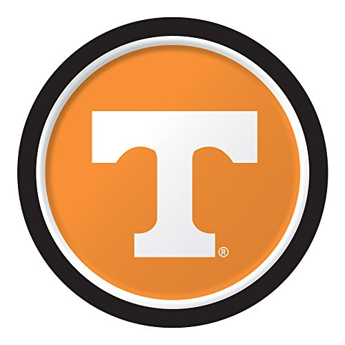 Ncaa Dinner Plates - Creative Converting 429854 NCAA 8-Count Sturdy Style 8.75-Inch Round Paper Plates, University of Tennessee, Knoxville, Dinner,