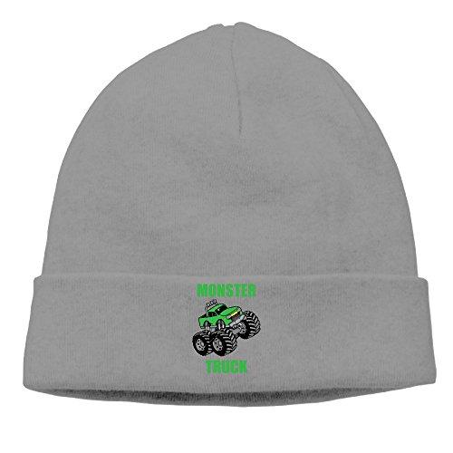 DETED Men&Women Monster Truck Fold Beanie Cap Hat Fall/Winter 2016 (Monster Truck Winter Hat)