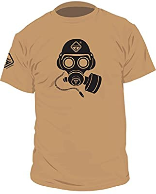 Special Forces Gas Mask(TM) Graphic Tee by Hazard 4(R)