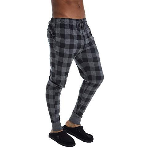Boutique Christmas Pajamas (Polo Ralph Lauren Knit Covered Waistband Jogger Pants Charcoal Heather/Buffalo Plaid)