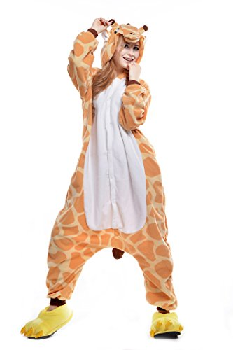 ult Animal Pajamas Halloween Costume (XL, Giraffe) ()