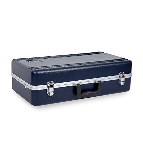 Crossrock Trumpet Rectangular ABS Molded Hard Shell Case with Padded Strap in Blue