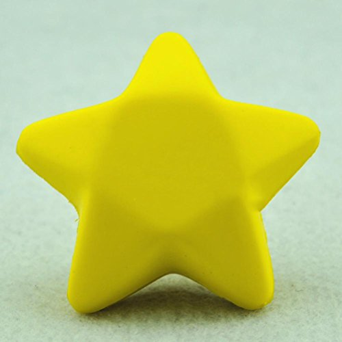 Yellow Five Star Shaped Hand Wrist Exercise Stress Relief Squeeze Soft Foam Ball by Team-Management ()