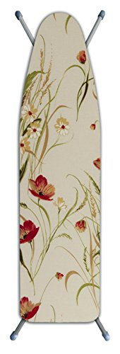 Laundry Solutions by Westex IBCAIE254POP 3-Layer Ironing Board Cover, Poppy