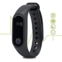 Wonderford Plastic and Metal Supreno M2 Bluetooth Smart Band with Fitness Tracker, Heart Rate Sensor for All Devices (Multicolour)