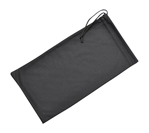 Soft Microfiber Drawstring Glasses Case Cleaning & Storage Pouch, 2 Sizes, Black