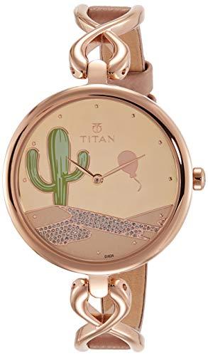Titan Valentines Analog Rose Gold Dial Women's Watch 95103WL01F / 95103WL01F