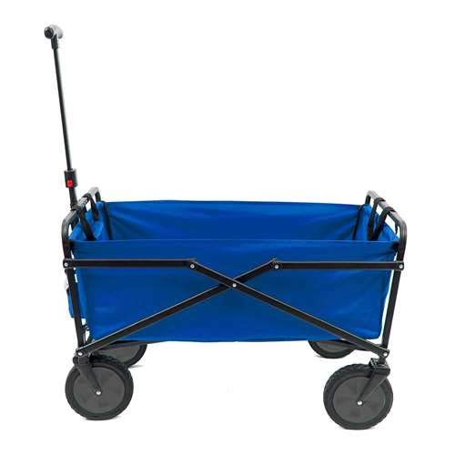 Seina 150 Pound Capacity Folding Outdoor Utility Cart, Blue (Open -