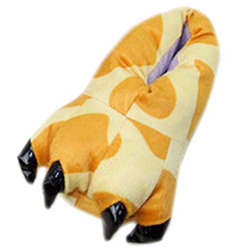 Animale La Adulte Qiyun Unisexe Velours hiver Chaud De Girafe Patte Chaussure Epaissir z Griffe Automne Chausson Y1qS8H
