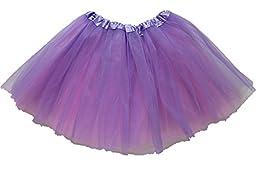 Lovelyprincess Light Purple 4 Layers Dancewear Tutu Skirts For 3-8T Girls