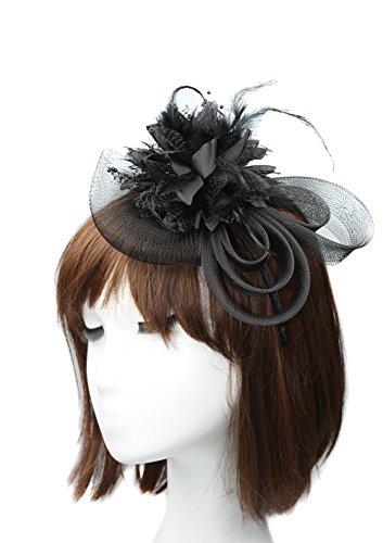 Anita Women's fascinators Small hairpin feather hat