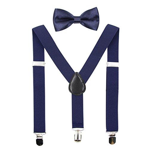 Hanerdun Kids Suspender Bowtie Sets Adjustable Suspender With Bow Ties Gift Idea For Boys And Girls big discount