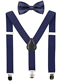 Kids Suspender Bowtie Sets Adjustable Suspender With Bow...