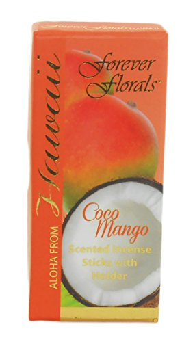 Forever Florals Hawaiian Incense Gift Box 8 Sets Coconut Mango by Forever Florals