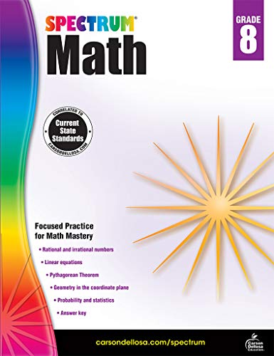 Spectrum Math Workbook, Grade 8 (Go Math Grade 4 Answer Key Chapter 12)