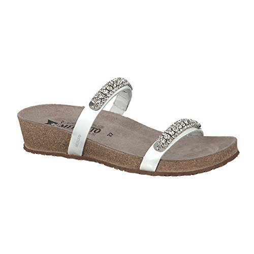 Mephisto Womens Ivana Leather Sandals White