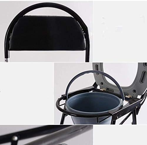 SuRose Le siège de Toilette en Tube d'acier de Chaise de Chaise Peut être plié 37 * 36.5 * 83cm