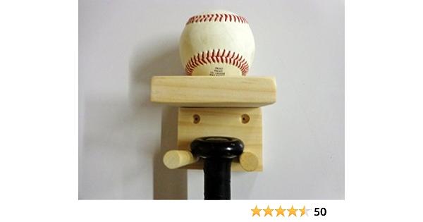 Wall Mount Rack Stand Sports Black Baseball Bat Display Hanger Holders Practical
