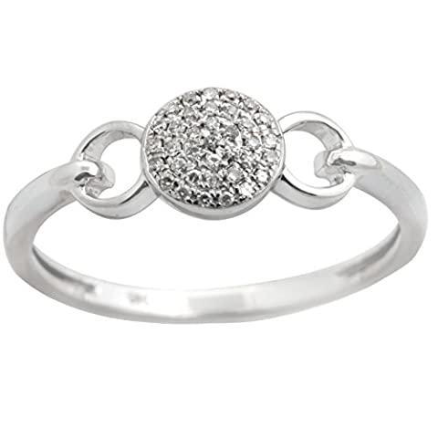 New Brand Round Brilliant Cut Natural Diamond Light Weight Fancy Cluster Ring, 10k White Gold, Size - 10k Gold Cluster Ring