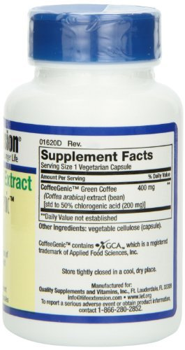 CoffeeGenic Green Coffee Extract 400 mg - 90 - VegCap (Pack of 3) by Life Extension (Image #4)