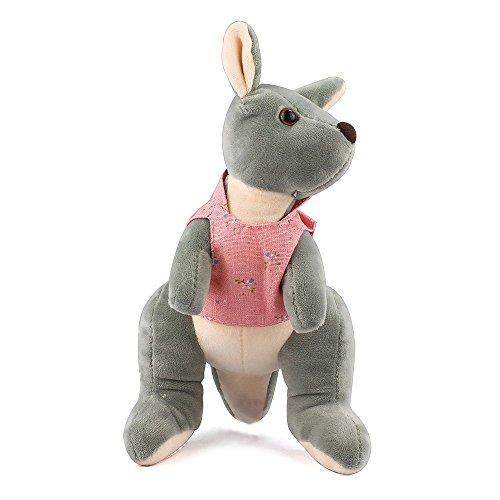 (MK MATT KEELY Pink Kangaroo Stuffed Toys for Boys Girls Cute Animals Cartoon Small Dolls 9.8 inch Birthday Gift)