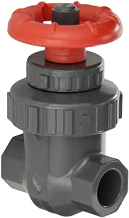 Spears PVC Gate Valve, Non-Rising Stem, Buna-N O-Ring, Socket