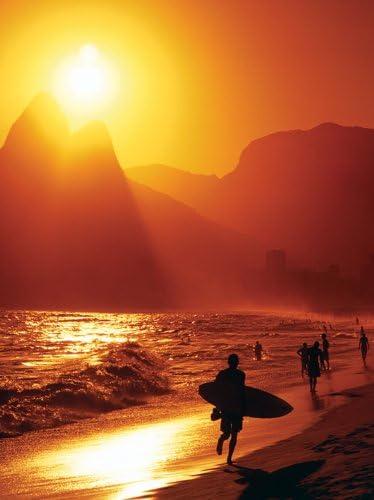 Rio De Janeiro Toile d/écorative Motif plage dIpanema 60 x 80/cm