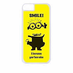 """linJUN FENG""""Smile, It Increases You're Face Value""""- Hard White Plastic Snap - On Case-Apple Iphone 6 Only - Great Quality!"""