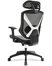 IntimaTe WM Heart Ergonomische bureaustoel, managersstoel met in hoogte verstelbare armleuningen en hoofdsteunen, ademende rugleuning en zitkussen, verstelbare lendensteunen