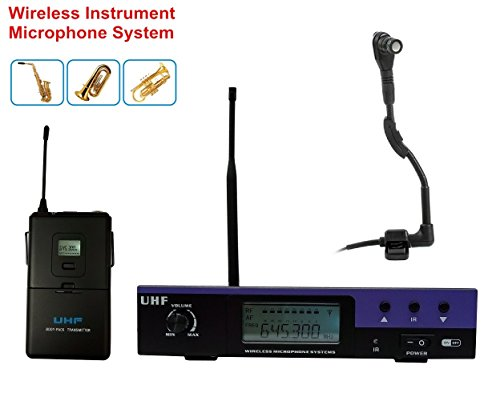 Boly UHF Professional Wireless Instrument Microphone for ...