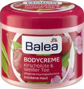 (Balea Body Cream Cherry Blossom & White Tea, 500 ml - German product)