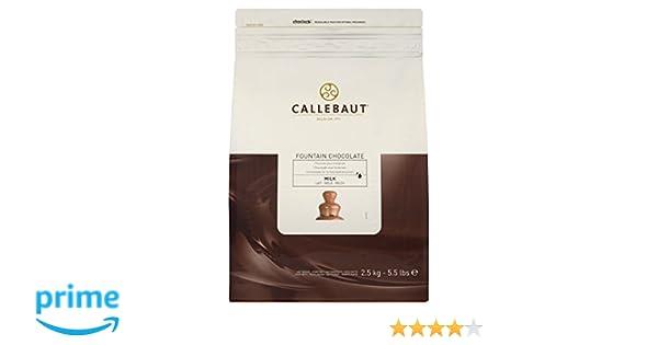 Callebaut Chocolate con leche para fuentes de 2,5 kg: Amazon.es: Alimentación y bebidas
