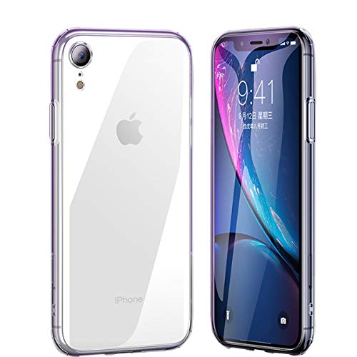 LoiStu Phone Case for iPhone XR 6.1 inches (2018), 6D Glass Transparent TPU Frame [Supports Wireless Charging], Ultra-Thin Transparent (Clear).
