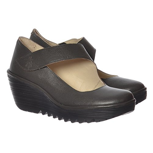 Scarpe Chiusa col Nicotine Tacco Mousse Yasi682fly London Punta Donna Fly UZvqO4