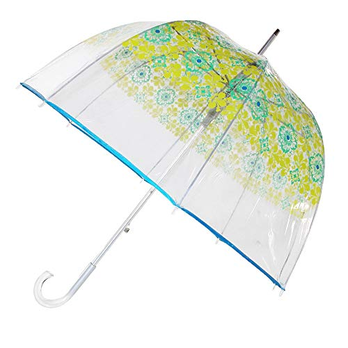 - Totes Women's Auto Open Blue Filigree Bubble Stick Umbrella, Multi-Color